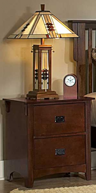Canton Maloney Night Stand - Oak Homelegance