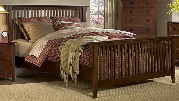 Canton Maloney Bed - Oak - Homelegance