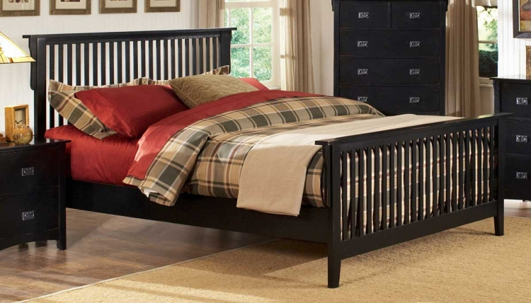 Canton Maloney Bed - Black