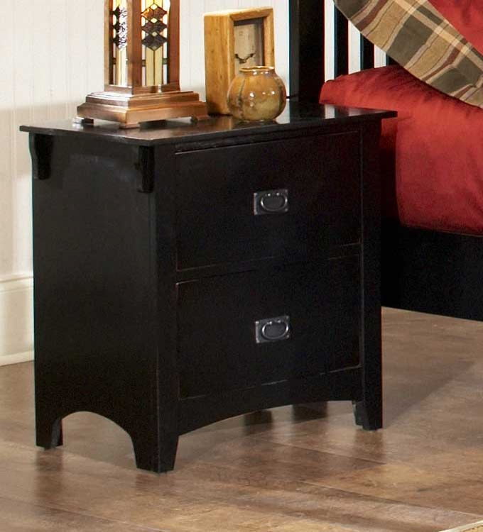 Canton Maloney Night Stand - Black - Homelegance