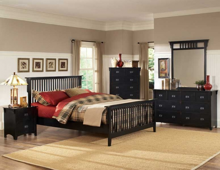 Canton Maloney Bedroom Collection - Black - Homelegance