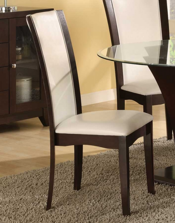 Daisy Side Chair in White Bi-cast Vinyl - Homelegance