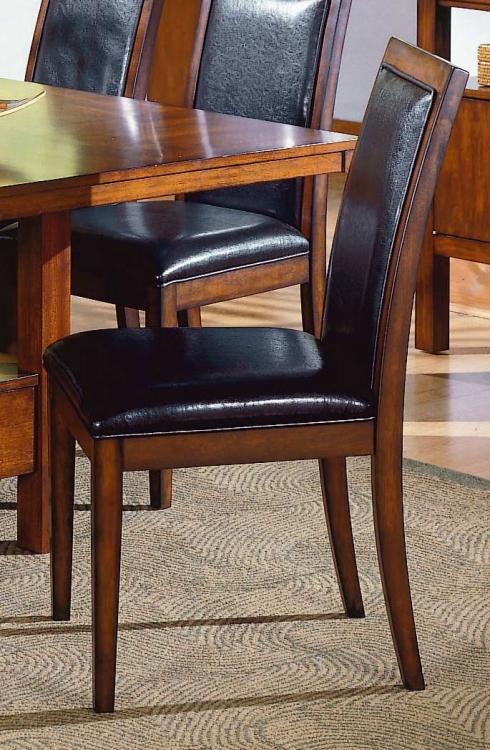 Achillea II Side Chair Dark Chocolate P U