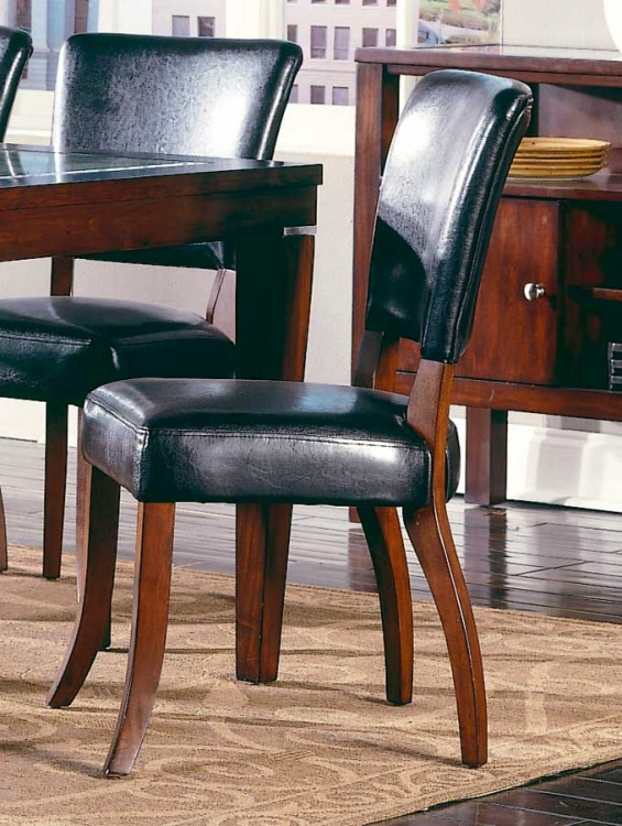 Carnation Side Chair Dark Chocolate P U