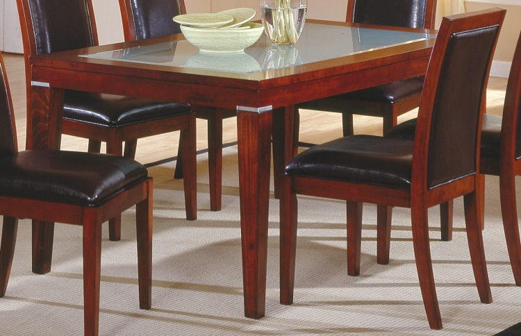 Carnation Dining Table with Frosted Glass