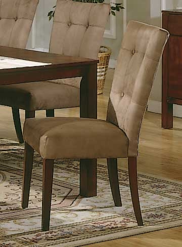 Achillea Microfiber Side Chair Buckskin