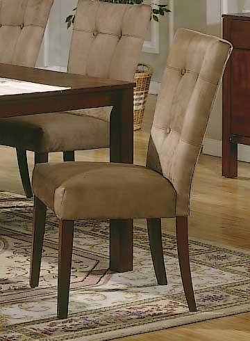 Homelegance Achillea Microfiber Side Chair Buckskin