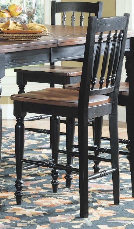 Oxford Counter Stool 24H Black