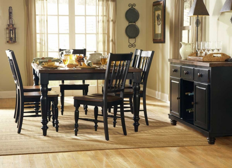 Oxford Dining Table Black-Cherry