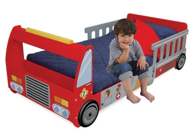 Fire Truck Toddler Cot-KidKraft