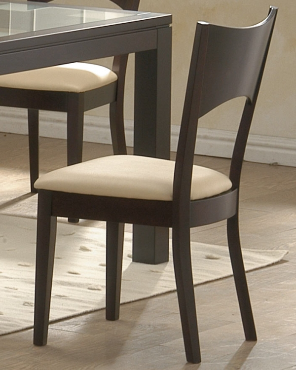 Radius Dining Side Chair with Cushion Seat-Homelegance