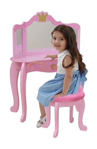 Princess Vanity & Stool-KidKraft