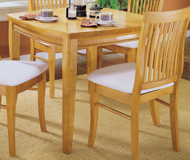 Liz Dining Table with Shaped Top-Oak