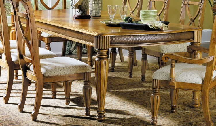 Sahara Dining Table with Extension Leaves
