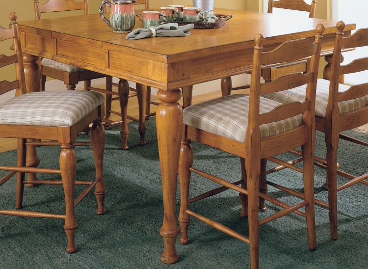 Casual Moments Pub Height Dining Table Pine Finish