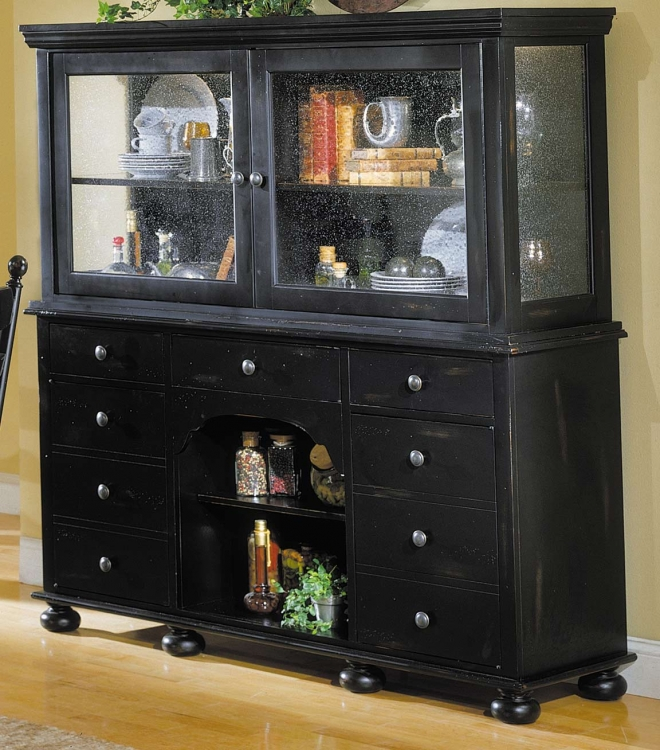 Homelegance Casual Moments Display Cupboard Antique Black