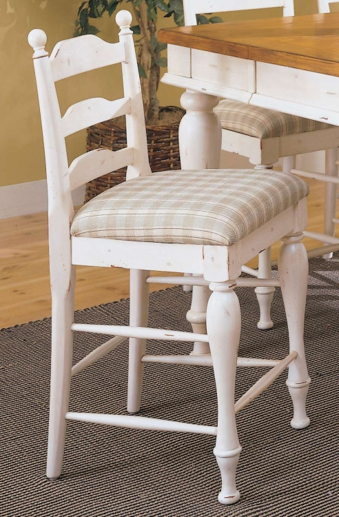 Casual Moments Pub Chair White Finish