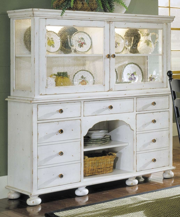 Homelegance Casual Moments Display Cupboard Antique White