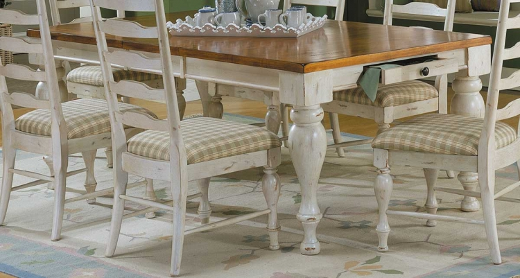 Casual Moments Dining Table Antique White