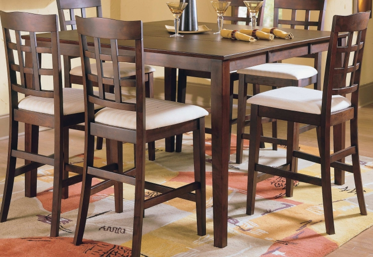 Casual Counter Height Table Merlot
