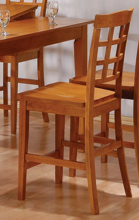 Casual Counter Height Chair Oak