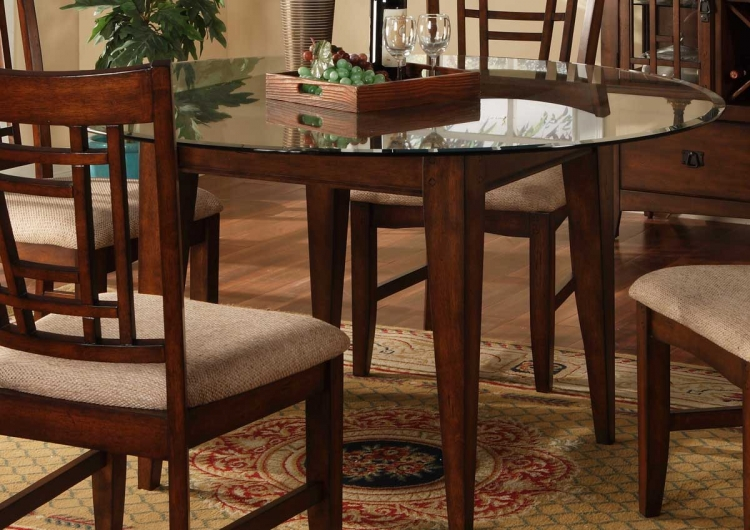 Sophie Round Glass Dining Table