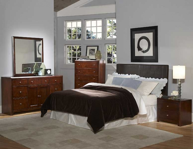 Copley Dark Brown Bi-Cast Bedroom Collection - Homelegance