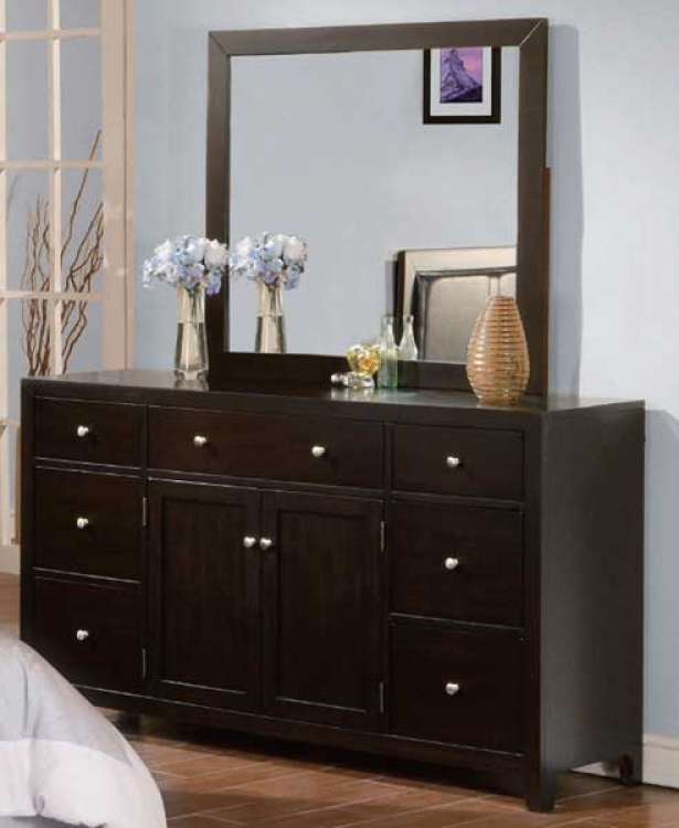 Caldwell Night Stand-Dresser-Mirror Package - Homelegance