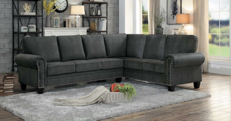 Cornelia Sectional Sofa - Dark Gray