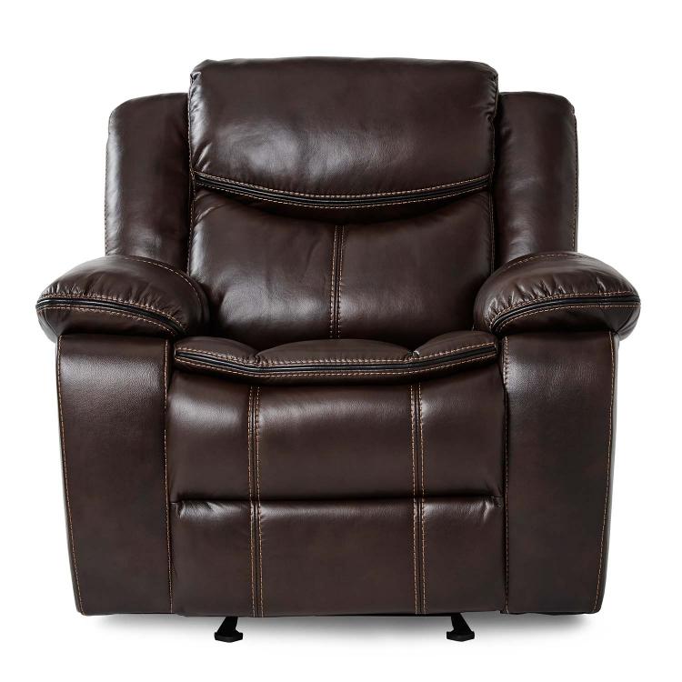 Bastrop Glider Reclining Chair - Dark Brown