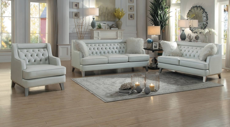 Nevaun Sofa Set - Light gray AireHyde