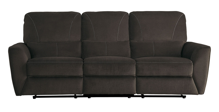 Dowling Double Reclining Sofa - Chocolate