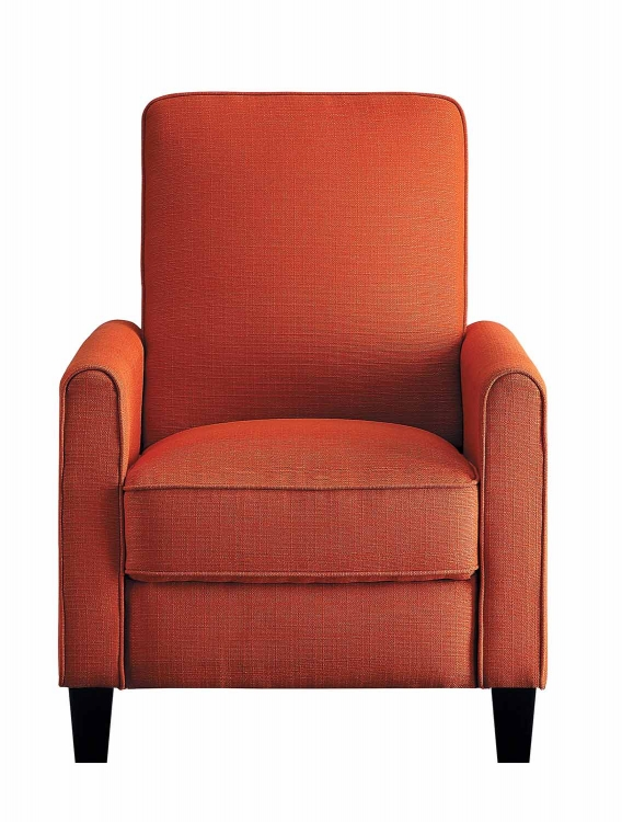Darcel Push Back Reclining Chair - Orange