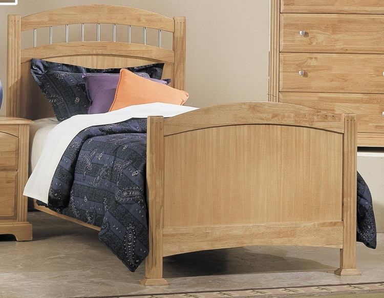 Truckee Bed with Wood Rails - Maple