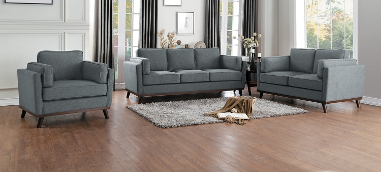 Bedos Sofa Set - Gray
