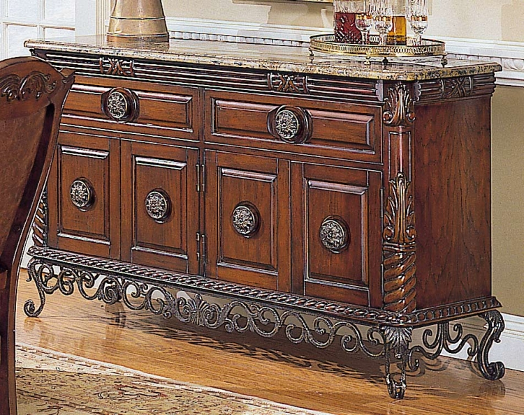 Madrid Server with Marble Top