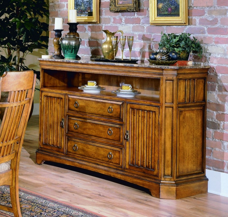 Homelegance Capistrano Server with Marble Top