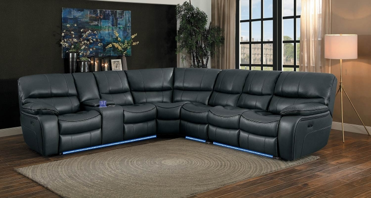 Pecos Power Sectional Sofa Set - Grey
