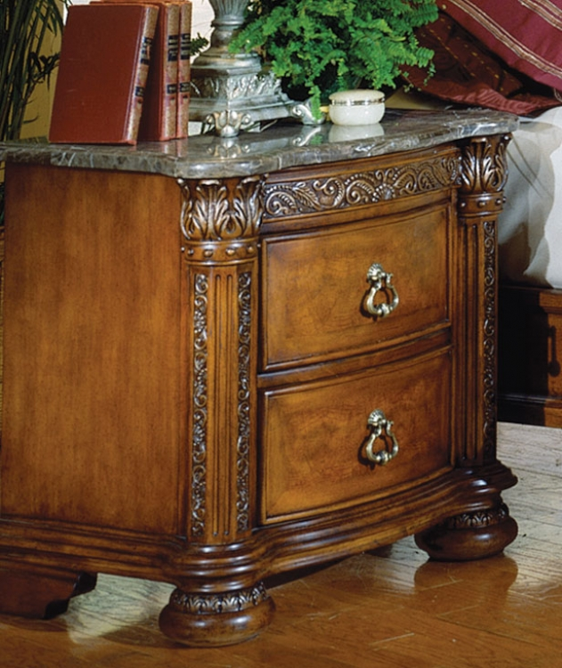 Spanish Hills Night Stand with Marble Top