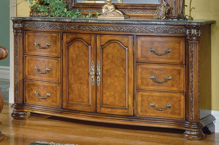 Spanish Hills Dresser with Marble Top