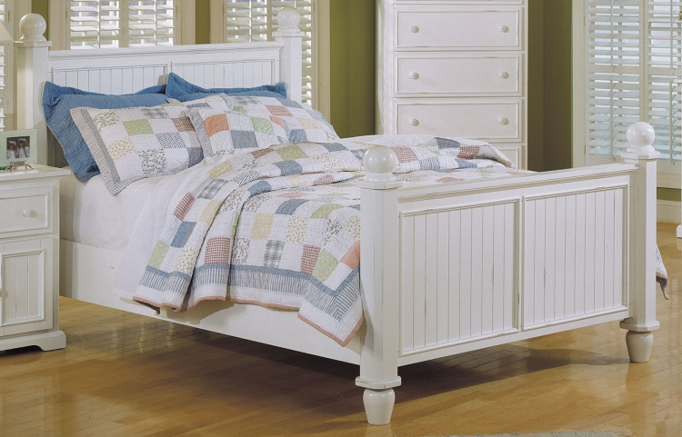 Montego Bay Panel Bed with Wood Rails