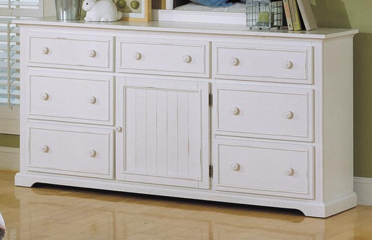 Montego Bay 7 Drawer 1 Door Dresser with Adj Shelf