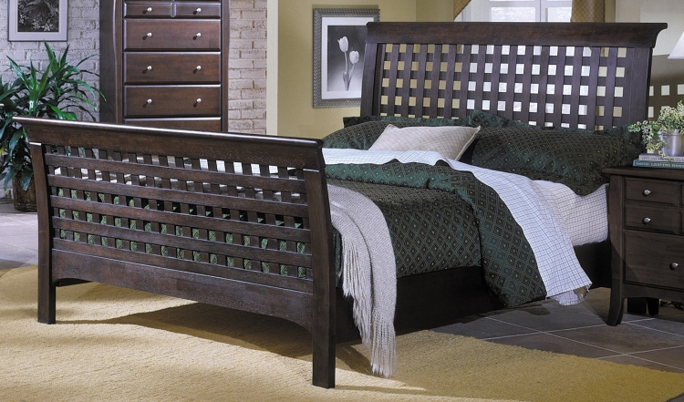 Cosmos Bed with Wood Rails