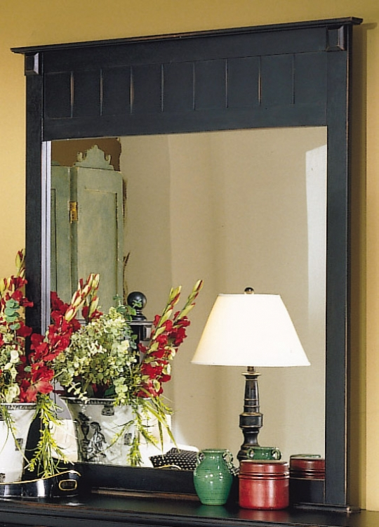 Pottery Mirror Black-Homelegance