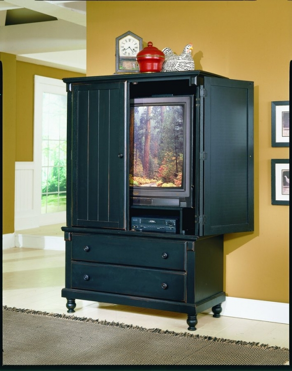 Pottery Armoire Black-Homelegance