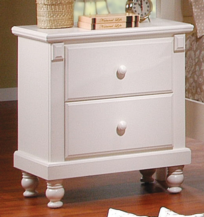 Pottery Night Stand White-Homelegance