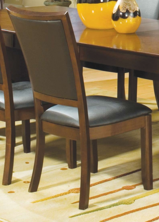 Capria Side Chair Black Leatherette