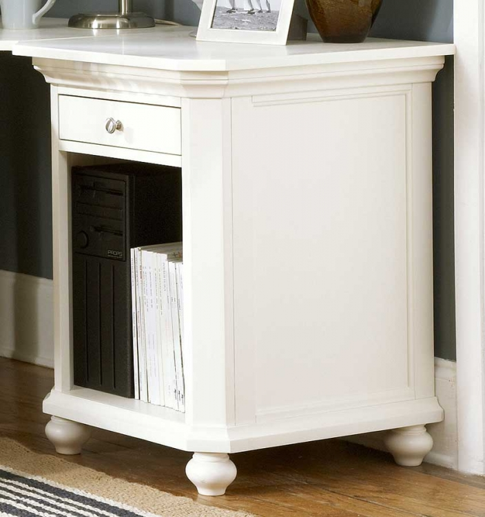 Hanna CPU Cabinet 1 Drawer White-Homelegance