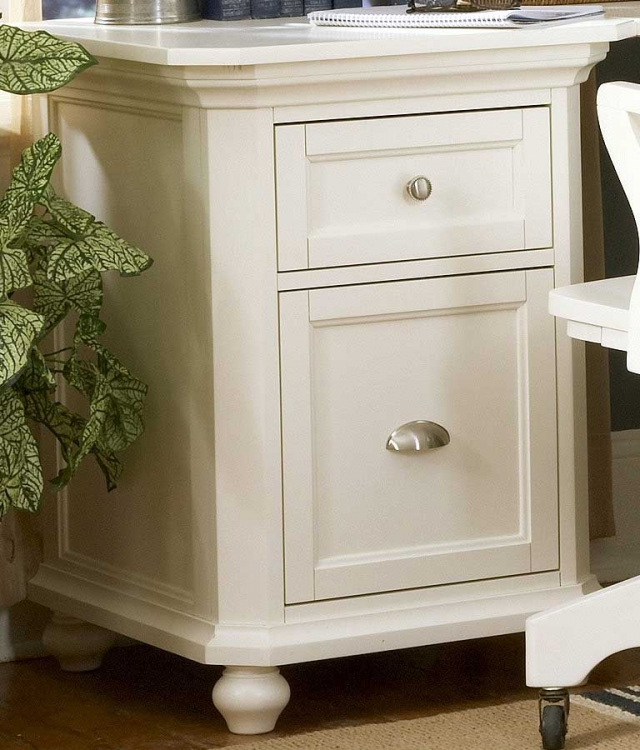 Hanna 2-Drawer Cabinet White-Homelegance