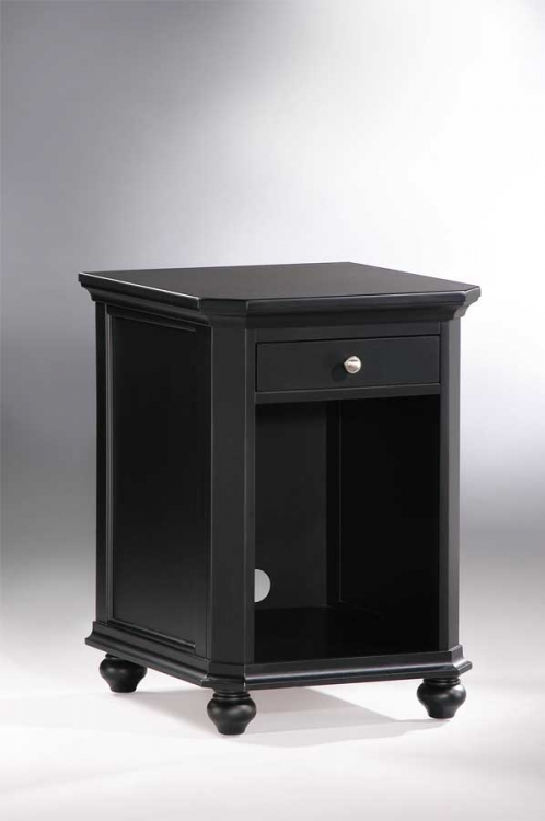 Hanna CPU Cabinet 1 Drawer Black-Homelegance
